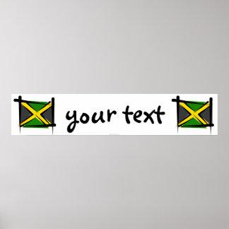 Jamaica Brush Flag Banner Poster