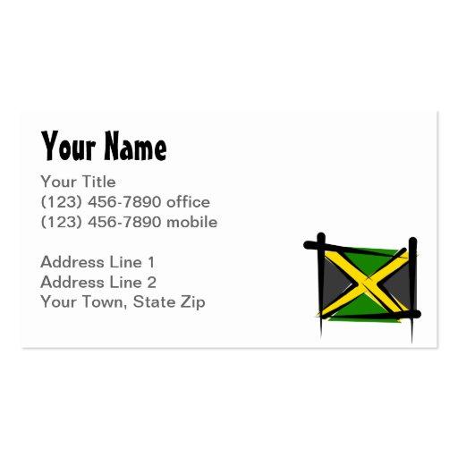 Jamaica Brush Flag Business Card Templates