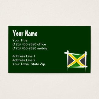 Jamaica Brush Flag Business Card