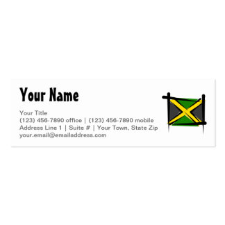 Jamaica Brush Flag Double-Sided Mini Business Cards (Pack Of 20)