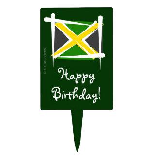 Jamaica Brush Flag Cake Pick