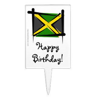 Jamaica Brush Flag Cake Picks