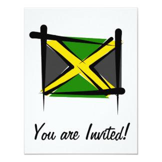 Jamaica Brush Flag Card