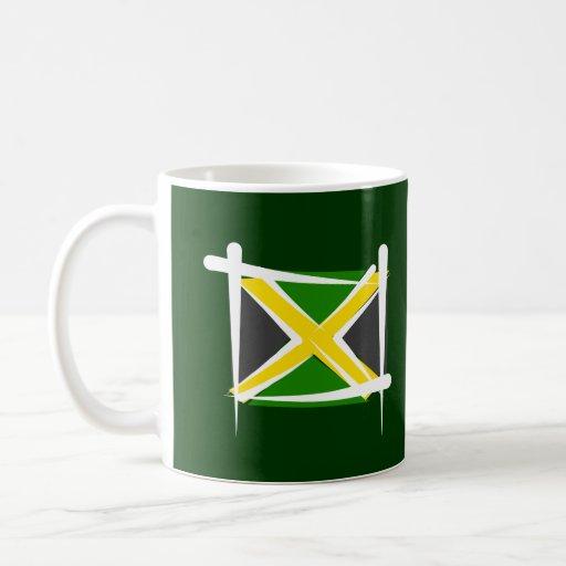 Jamaica Brush Flag Classic White Coffee Mug