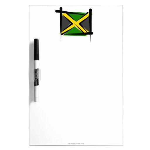 Jamaica Brush Flag Dry Erase Boards