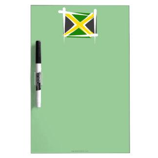 Jamaica Brush Flag Dry-Erase Whiteboard