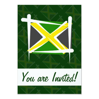 Jamaica Brush Flag 5x7 Paper Invitation Card