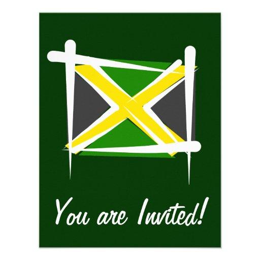 Jamaica Brush Flag Invitations