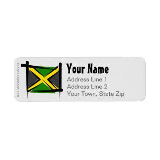 Jamaica Brush Flag Label
