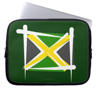 Jamaica Brush Flag Laptop Sleeve