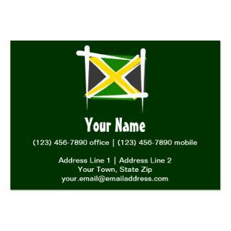 Jamaica Brush Flag Large Business Card