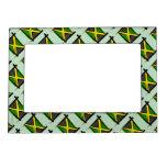 Jamaica Brush Flag Magnetic Photo Frame