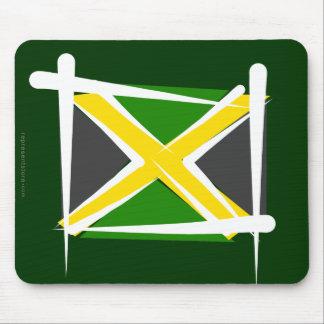 Jamaica Brush Flag Mouse Pad
