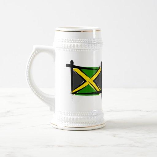 Jamaica Brush Flag Mugs