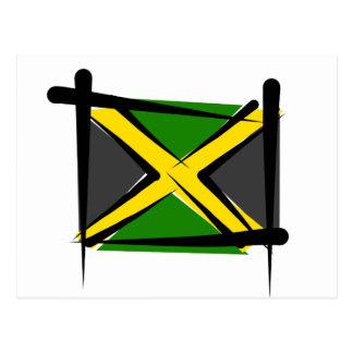 Jamaica Brush Flag Postcard
