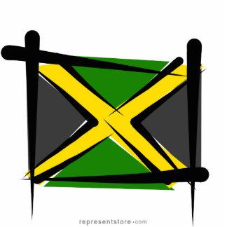 Jamaica Brush Flag Statuette