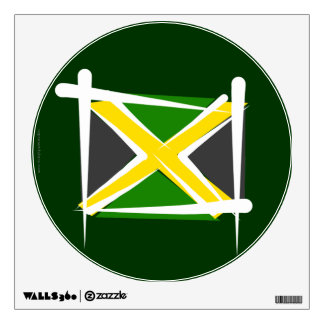 Jamaica Brush Flag Wall Decal