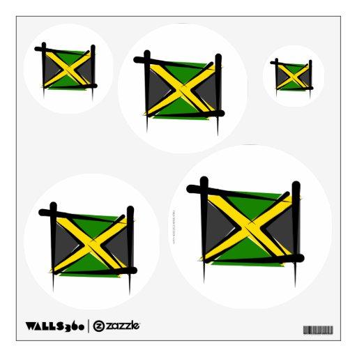Jamaica Brush Flag Wall Skin