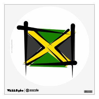 Jamaica Brush Flag Wall Sticker