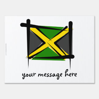 Jamaica Brush Flag Lawn Sign