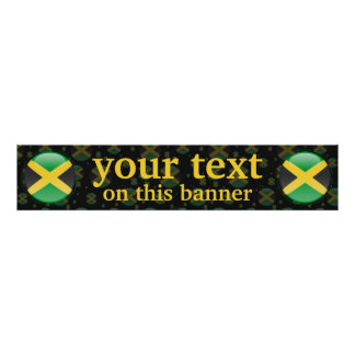 Jamaica Bubble Flag Banner Print
