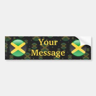 Jamaica Bubble Flag Bumper Sticker