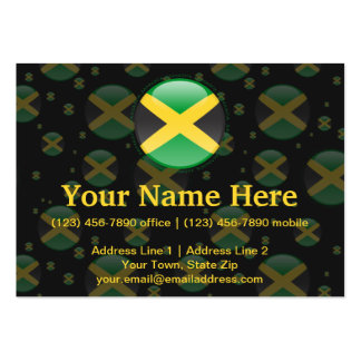 Jamaica Bubble Flag Large Business Cards (Pack Of 100)