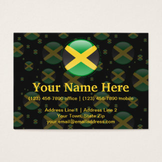 Jamaica Bubble Flag Business Card