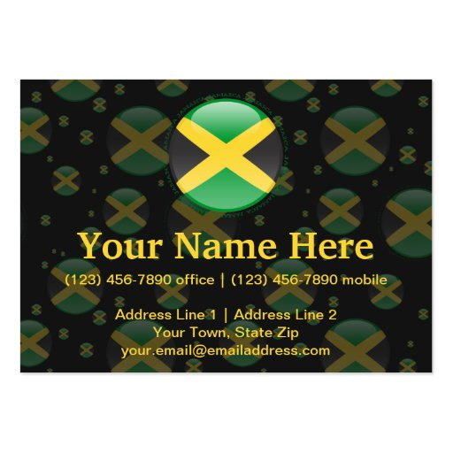 Jamaica Bubble Flag Business Card Template