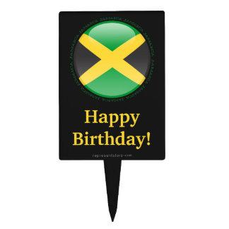 Jamaica Bubble Flag Cake Picks