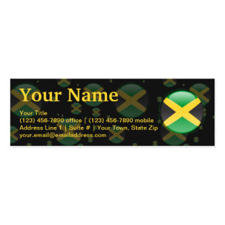 Jamaica Bubble Flag Double-Sided Mini Business Cards (Pack Of 20)