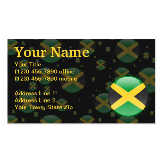 Jamaica Bubble Flag Double-Sided Standard Business Cards (Pack Of 100)