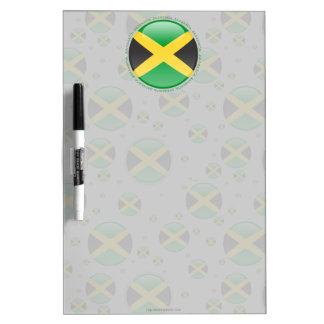 Jamaica Bubble Flag Dry-Erase Board