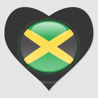 Jamaica Bubble Flag Heart Sticker