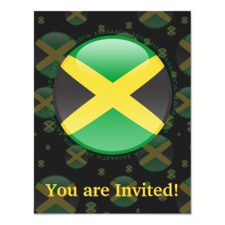 Jamaica Bubble Flag 4.25x5.5 Paper Invitation Card