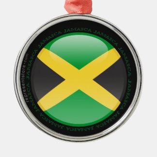 Jamaica Bubble Flag Metal Ornament
