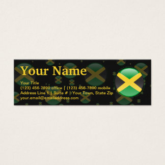 Jamaica Bubble Flag Mini Business Card