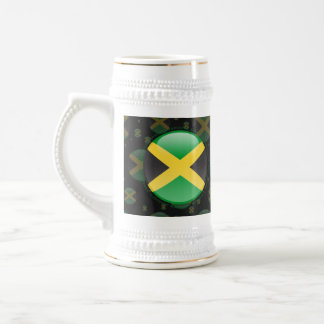 Jamaica Bubble Flag 18 Oz Beer Stein
