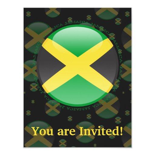 Jamaica Bubble Flag Personalized Invite