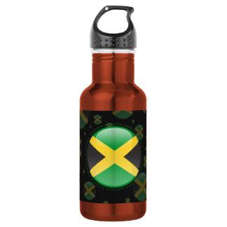 Jamaica Bubble Flag 18oz Water Bottle