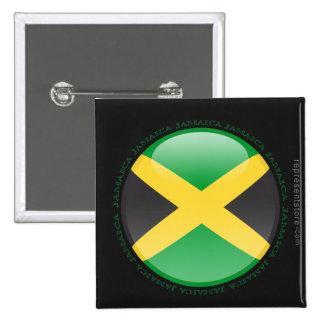 Jamaica Bubble Flag Pinback Button