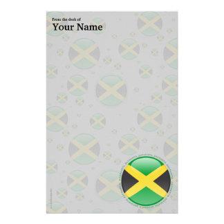 Jamaica Bubble Flag Customized Stationery