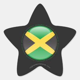 Jamaica Bubble Flag Star Sticker