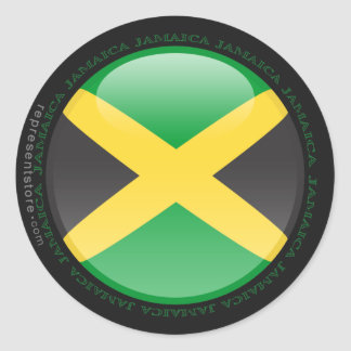 Jamaica Bubble Flag Sticker