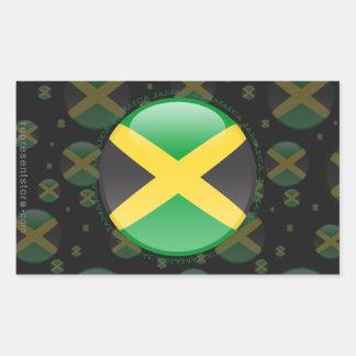 Jamaica Bubble Flag Rectangle Stickers