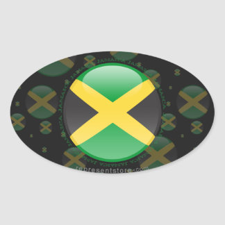 Jamaica Bubble Flag Stickers