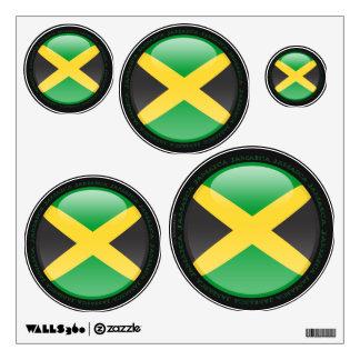 Jamaica Bubble Flag Wall Decal