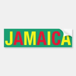 ¡JAMAICA! ETIQUETA DE PARACHOQUE