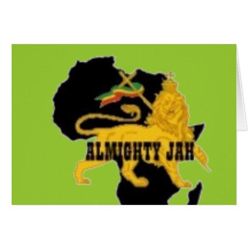 Jamaica/camiseta africana y etc tarjeta de felicitación