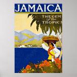 Jamaica Caribbean Sea Vintage Travel Poster
